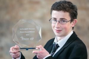 Overall winner of SciFest 2013, Paul Clark, St Paul's College, Raheny, Dublin.jpg