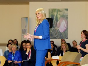 Miriam O'Callaghan addresses the audience at the special event held to coincide with International Women's Day