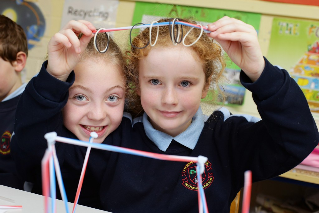 Emma Kennedy and Aoife O'Sullivan from Tiermohan NS in Donadee are pictured during Engineers Week