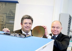 Intel Ireland General Manager Eamonn Sinnott and UCD President Andrew Deeks are pictured at the Intel campus in Leixlip