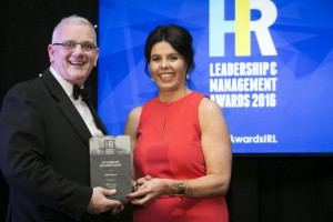 Maureen Walsh, Managing Director, DeCare Dental, presents the Best Learning and Development Strategy award to Martin Denham, Intel Ireland