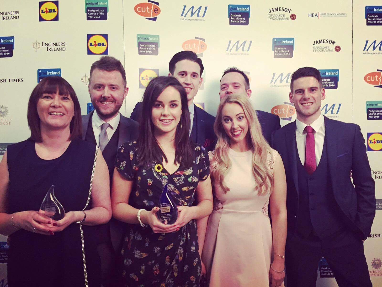 The Intel Ireland team are pictured at the 2016 Graduate Recruitment awards