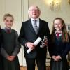 Mini Scientist Meet Irish President CROP 2X1