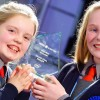22/1/16***NO REPRO FEE***Sinead Buggy and Laura Miller from Timahoe NS in Laois were named the overall Intel Mini Scientist winners at the National Grand Final which took place in the Science Gallery today. They picked up the top award for their project 'Game Changer - Leaping Labradors'. More than 6000 students from across Ireland tool part in this year's Intel Mini Scientist competition.Pic: Marc O'Sullivan