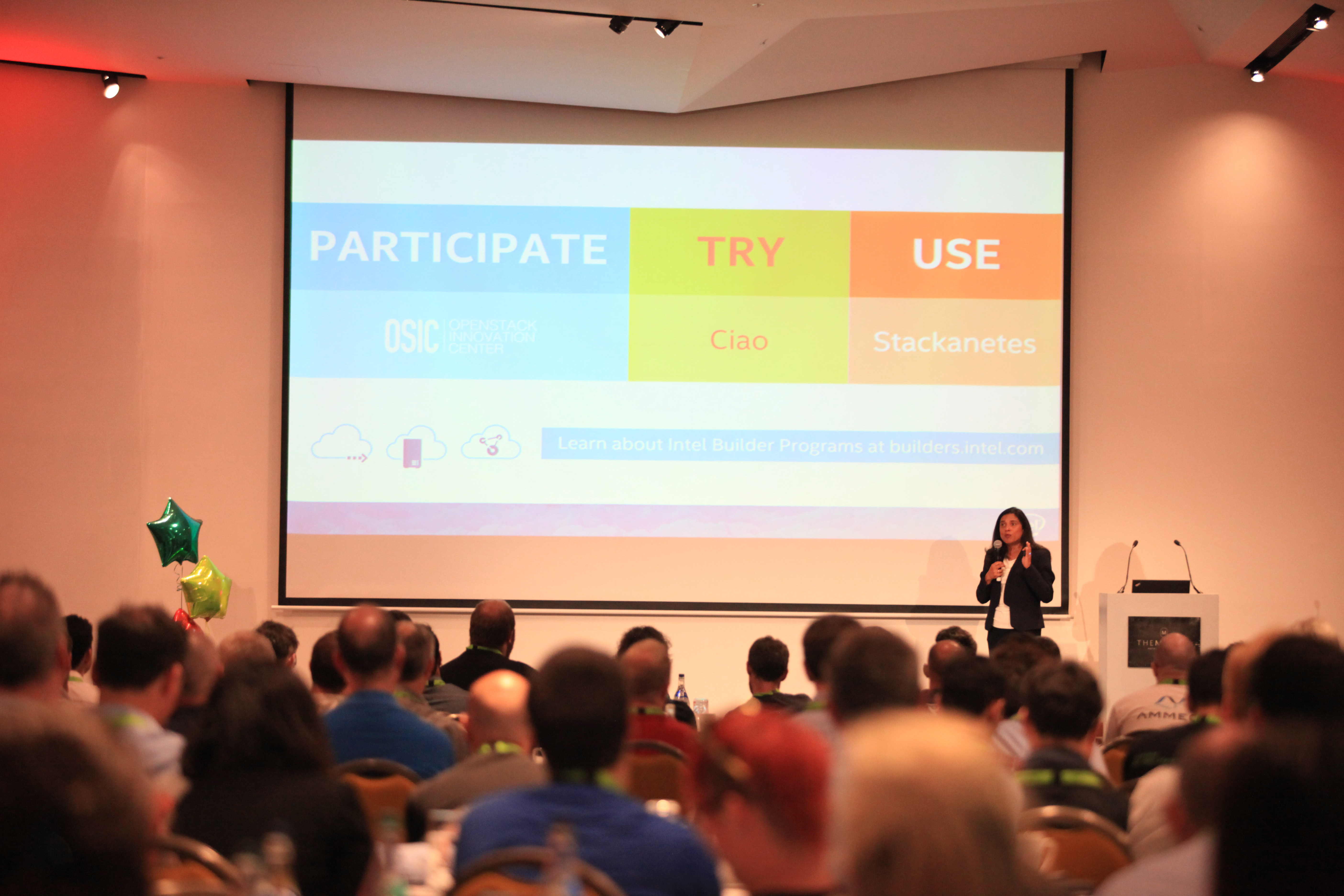 Intel's Ruchi Bhargava addresses the audience at the Ireland OpenStack Day