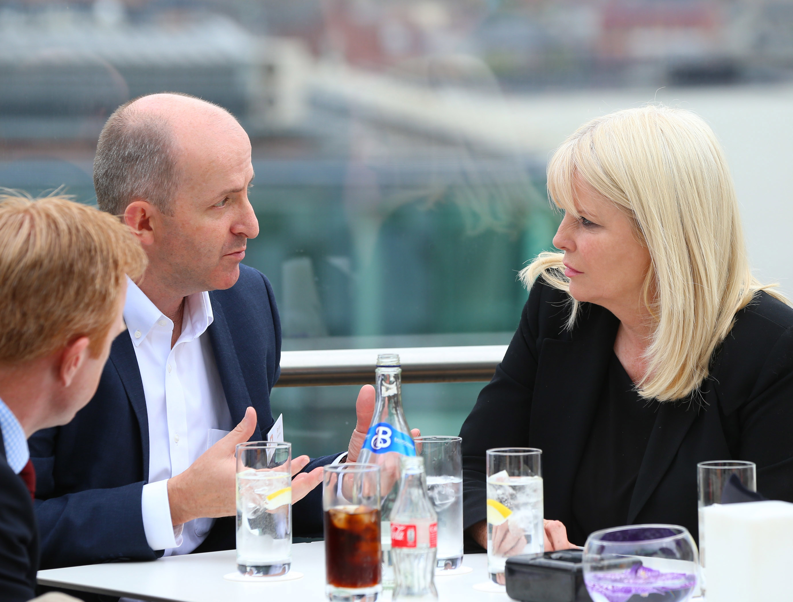 Minister for Jobs, Enterprise and Innovation Mary Mitchell O'Connor, TD. is pictured with General Manager of Intel Shannon Brian Aherne on the eve of the first ever Ireland OpenStack Day