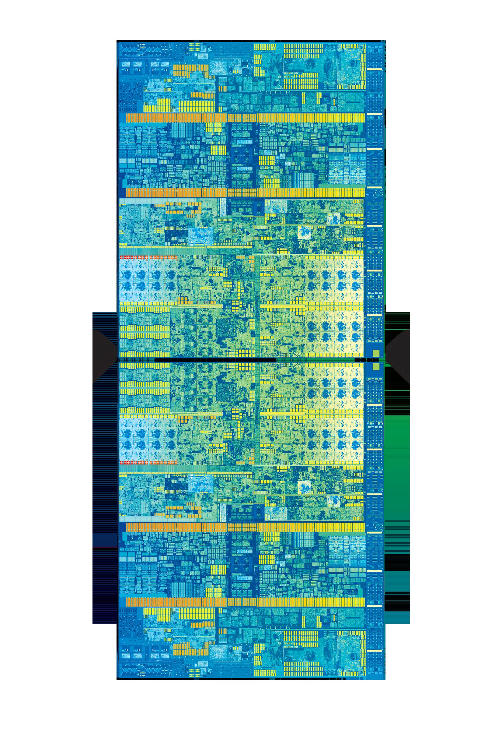 7th Gen Intel Core die with mirror effect