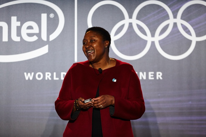 Aicha Evans, senior vice president and chief strategy officer at