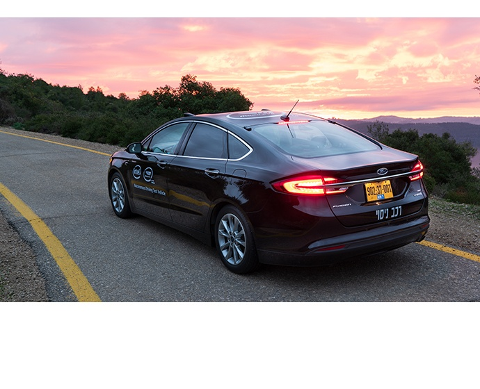 A photo from December 2018 shows a Ford Fusion that has been fit