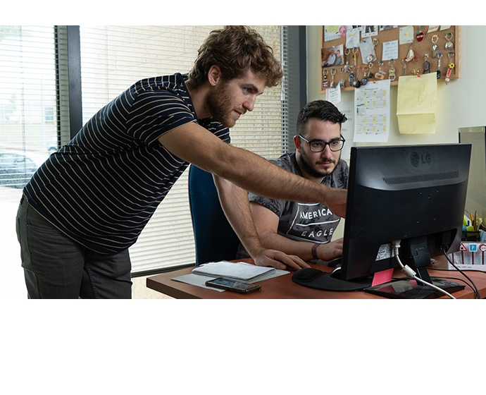 Mobileye employees work at the company headquarters in Jerusalem