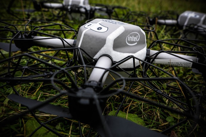 Intel set a Guinness World Record when the company flew 500 Intel Shooting Star drones simultaneously on Oct. 7, 2016, in Hamburg, Germany. The record for the Most UAVs Airborne Simultaneously beat a previous record of 100 set by Intel less than a year earlier. (Source: Intel Corporation)