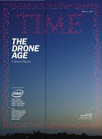 Intel Shooting Star drones light up the Folsom, California sky r