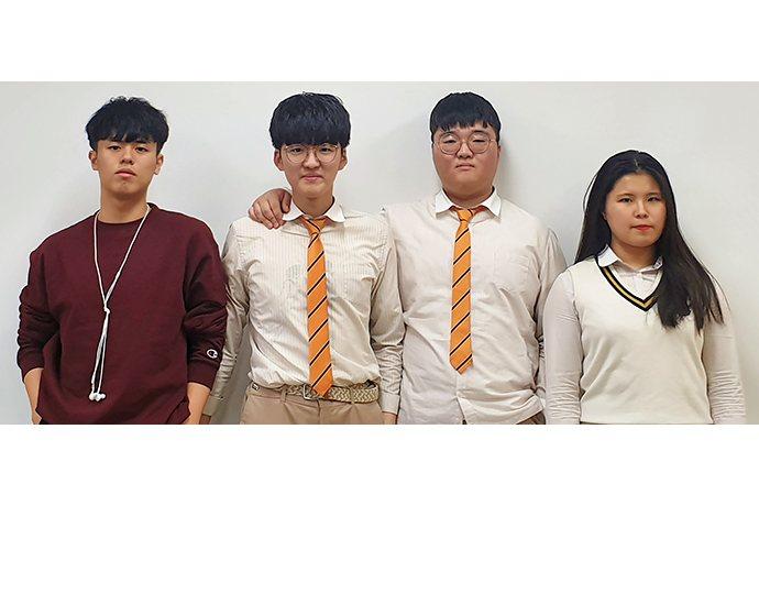 Lee Jihong, Kim Eundong, Kim Jidong and Lee Seungyun from Busan