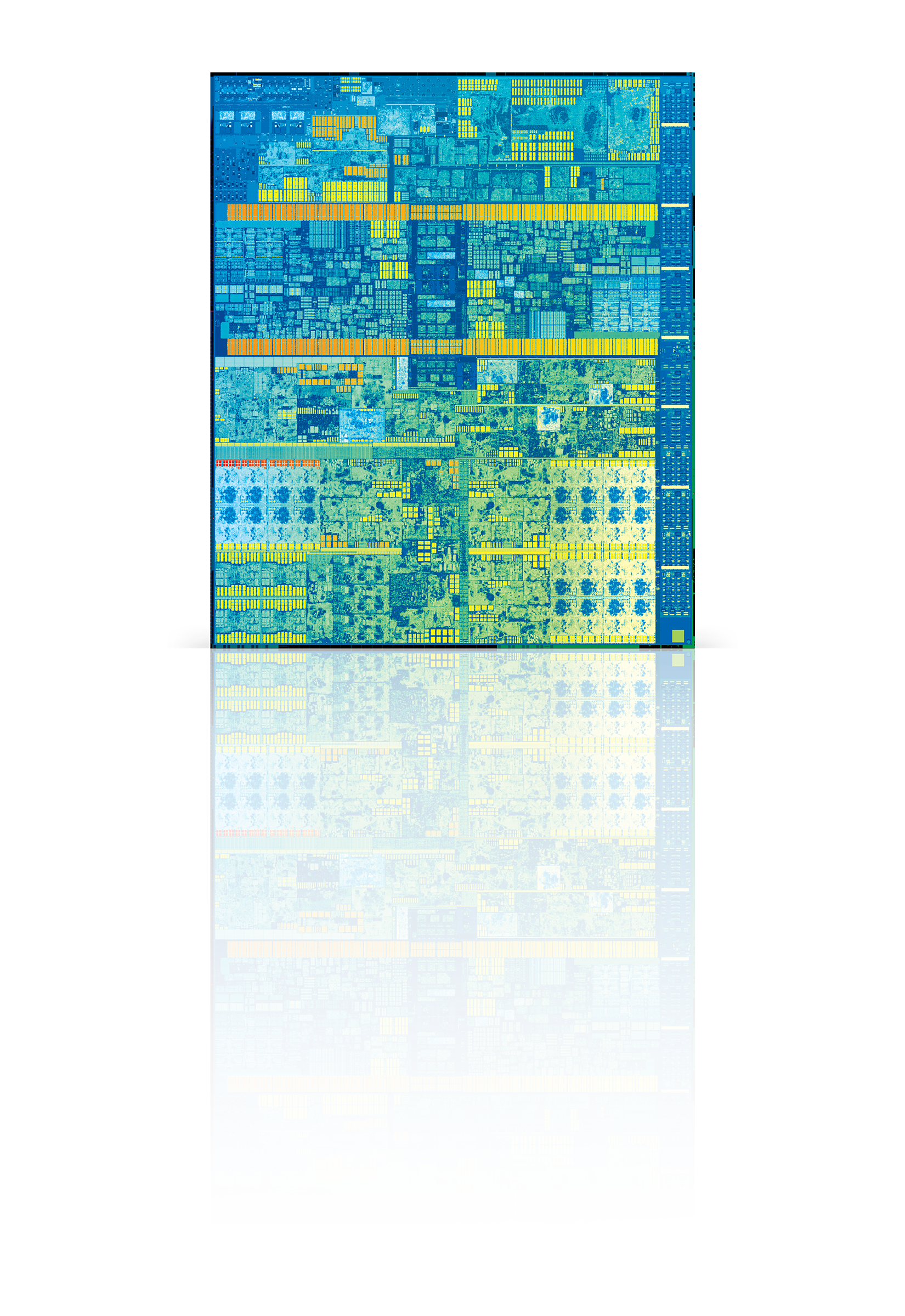 7th Gen Intel Core die with mirror effect