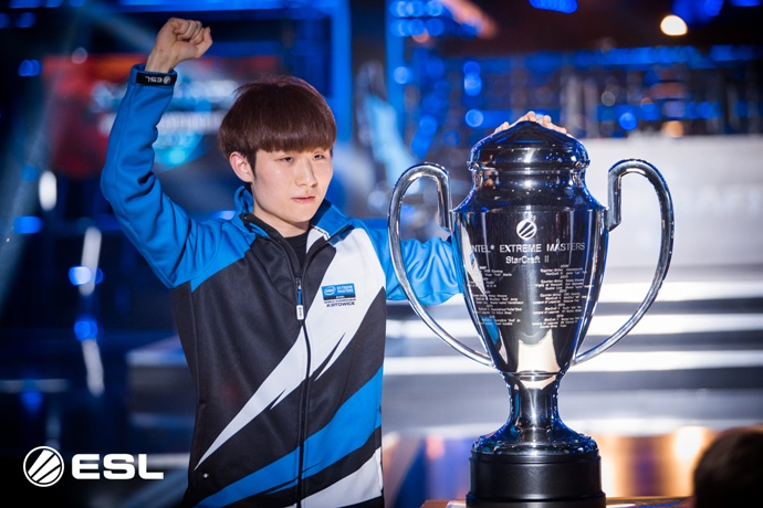 "Jun ""TY"" Tae Yang wins ""StarCraft II"" championship at the Intel® Extreme Masters World Championship competition on Sunday, March 5, 2017, in Katowice, Poland. (Credit: ESL 