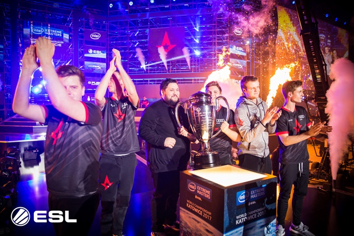 "Astralis emerge victorious in ""Counter-Strike: Global Offensive"" championship at the Intel® Extreme Masters World Championship competition on Sunday, March 5, 2017, in Katowice, Poland. (Credit: ESL 