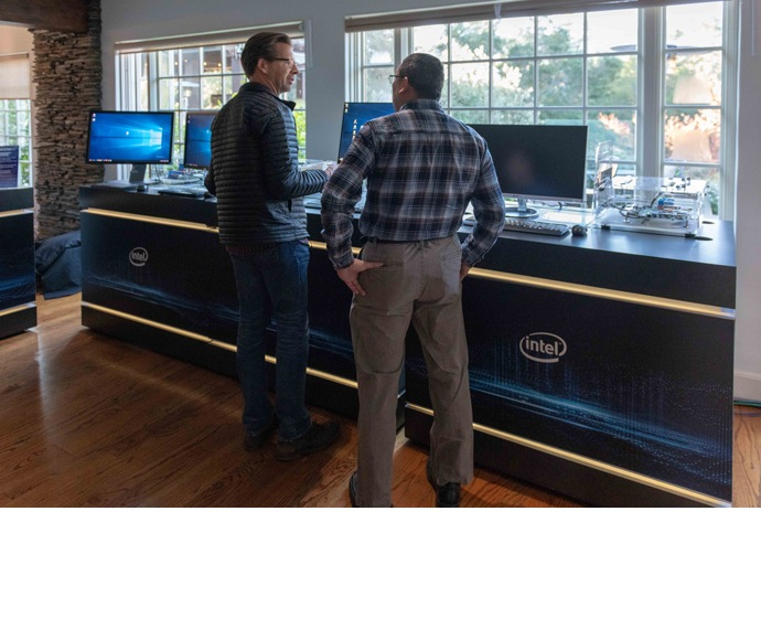 People attending Intel Architecture Day on Tuesday, Dec. 11, 201