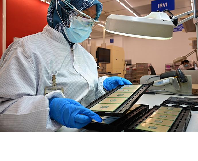 Intel manufacturing technicians in Kulim, Malaysia, display 3rd