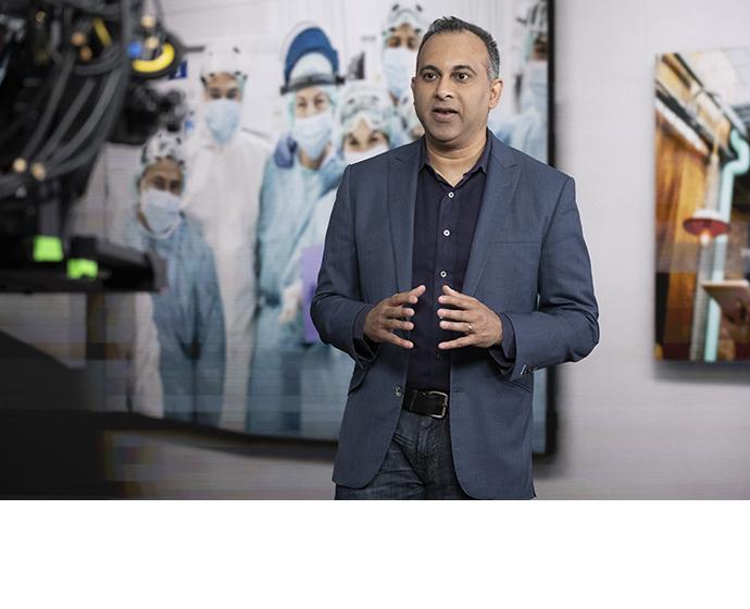 Navin Shenoy, executive vice president in Intel's Data Platforms