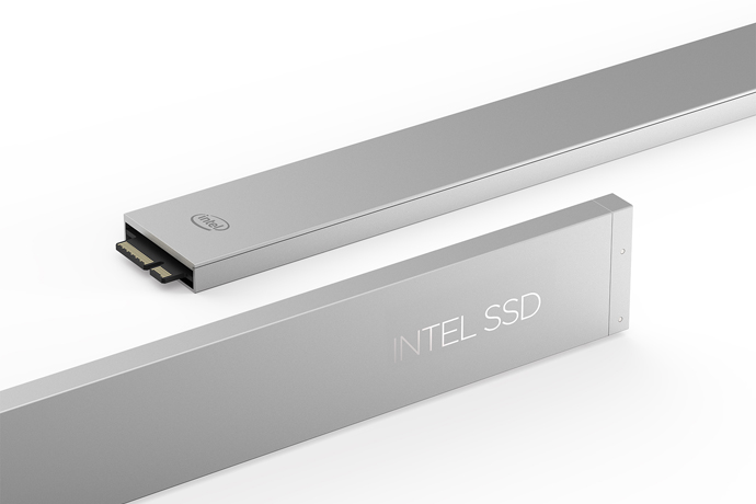 The Intel SSD DC P4500 Series comes in the ruler form factor, wh
