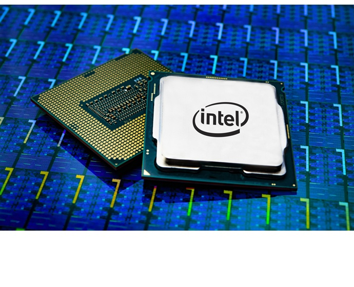 A photo released Oct. 8, 2018, shows a 9th Gen Intel Core proces