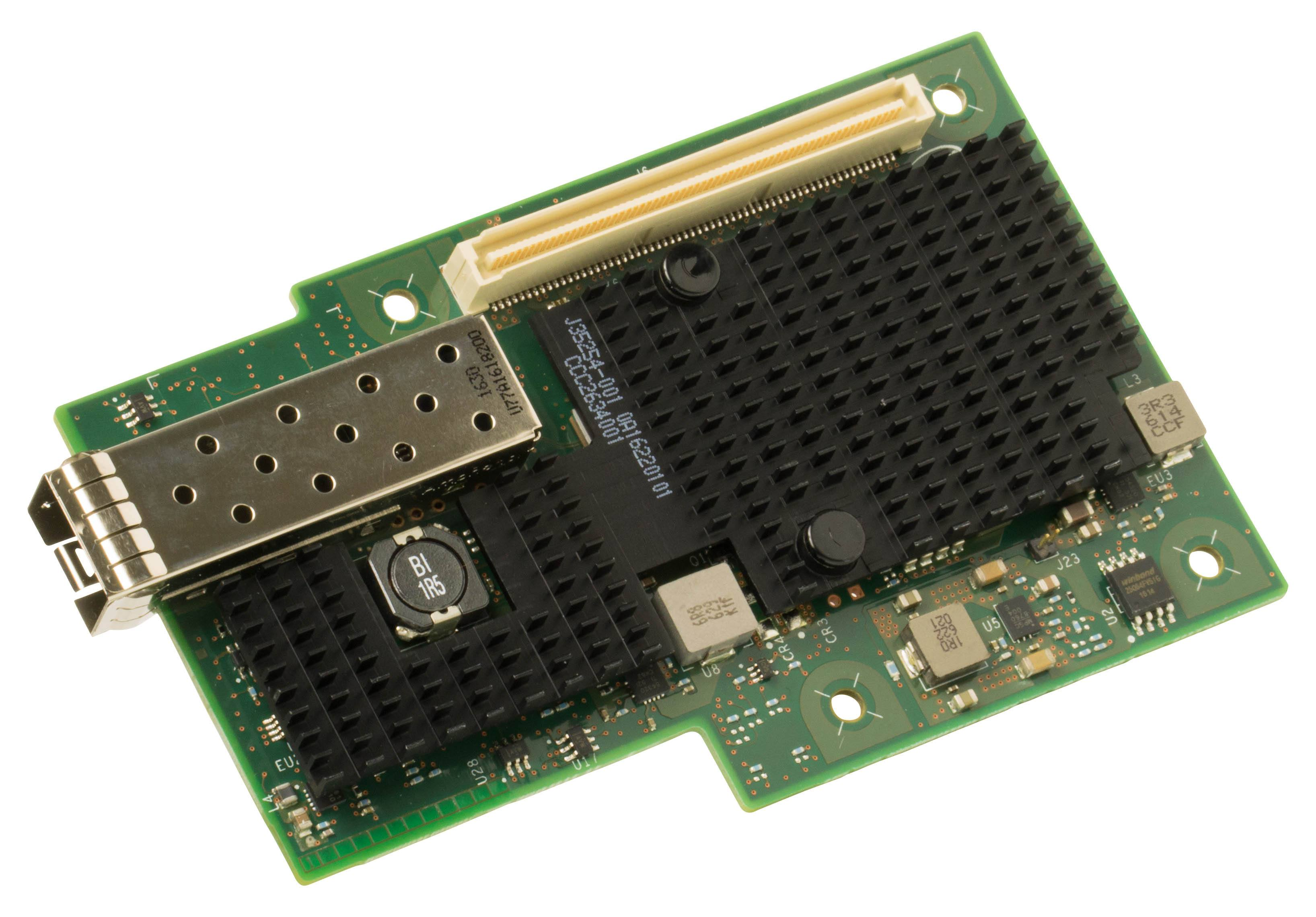 Intel Ethernet Network Adapter XXV710 supports 25 GbE to provide a natural upgrade migration path from 10 GbE for those who need more bandwidth at a lower cost point than 40 GbE. (Credit: Intel Corporation)