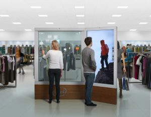 Interactive embedded retail kiosk is an example of some of the new kinds of devices Intel is enabling with its Atom processor.
