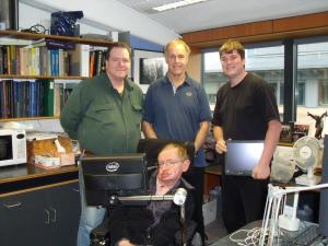 Stephen Hawking and Travis Bonifield