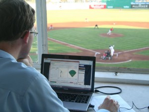 Ben Taylor of the San Jose Giants using Gameday application to deliver big data stats to fans in real time