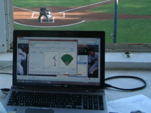 Gameday application used to gather big data stats at San Jose Giants game