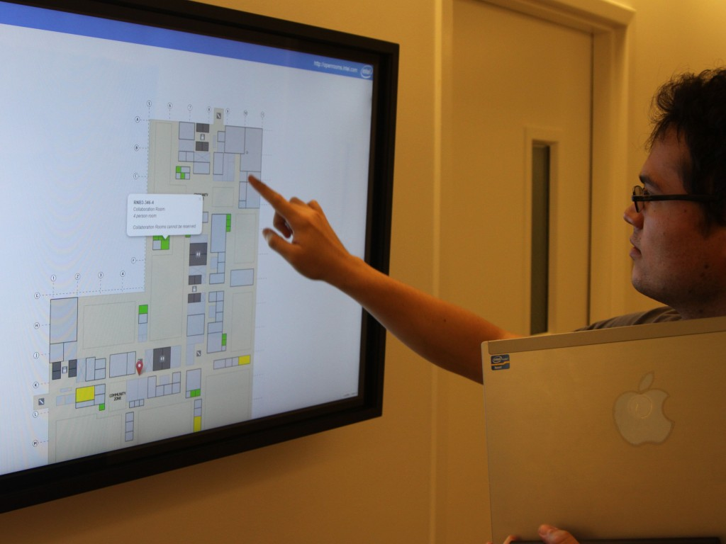 Touchscreen App Directs Conference Room Traffic | Intel Newsroom