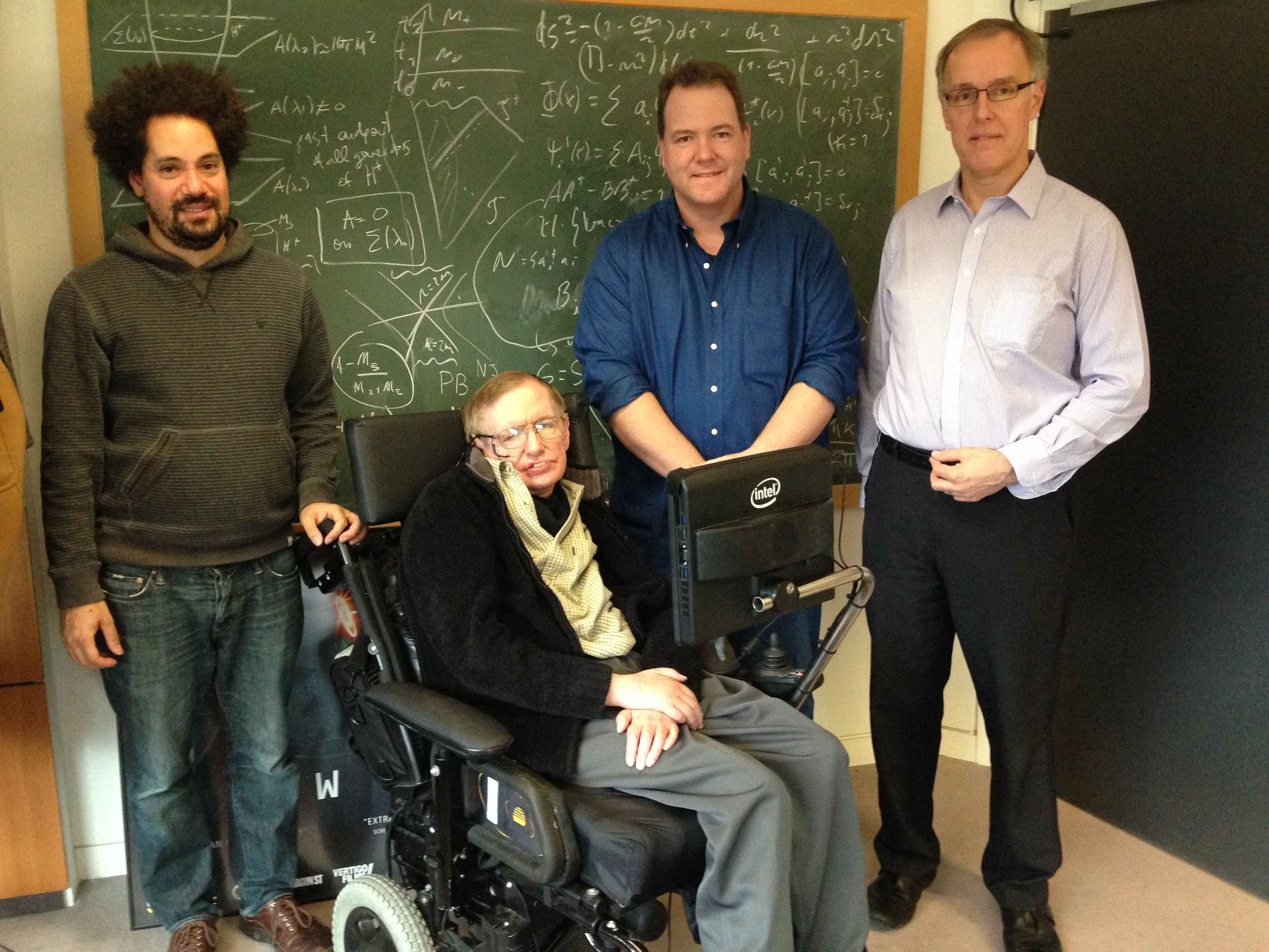 Stephen Hawking with new computer