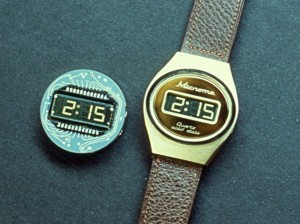 Microma made the first watch with an LCD display.