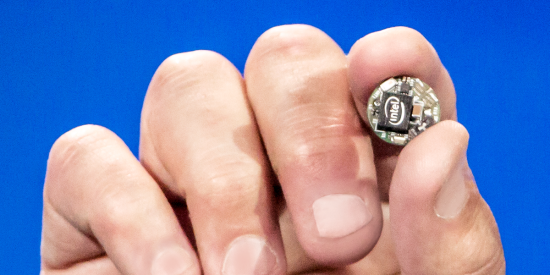 The Intel Curie SoC is small enough to fit on a jacket button.