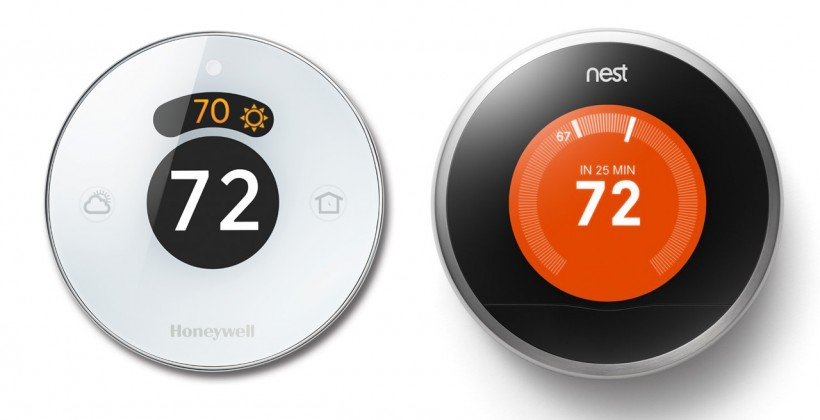 Honeywell Lyric and Nest thermostats. Image credit: Honeywell and Nest Labs
