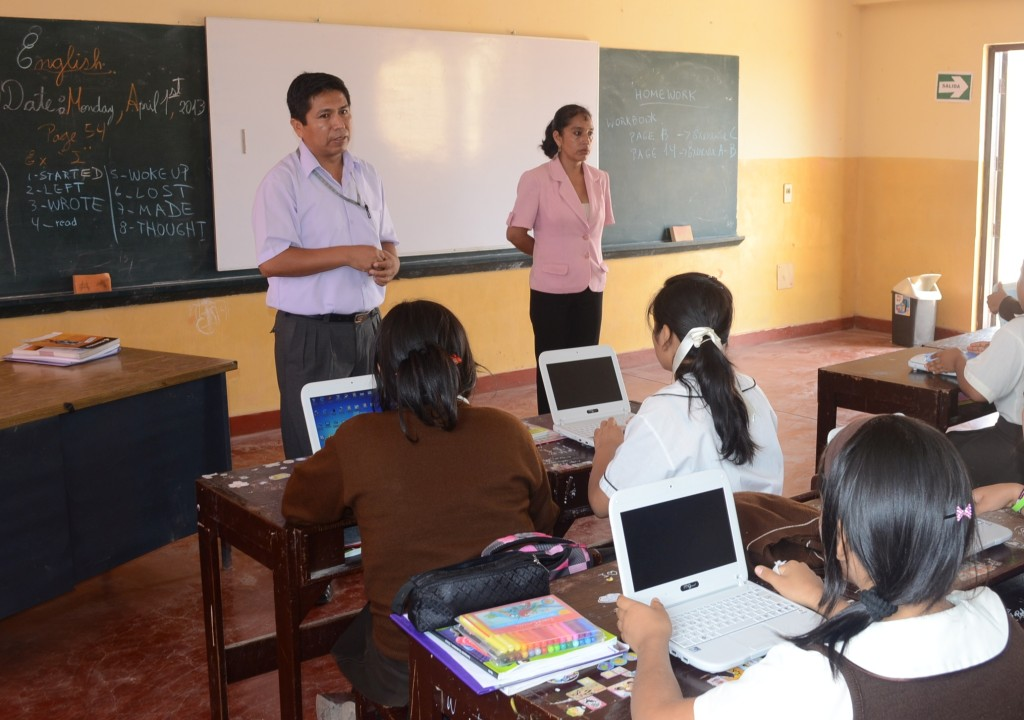 This school in Peru helped in testing the Smart Solar Charger hardware.