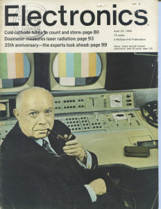 The cover of the April 19, 1965 issue of Electronics, which at the time sold for 75 cents.