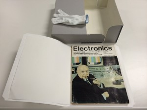 An original 1965 copy of Electronics is now carefully protected in the Intel archives in a climate-controlled environment.