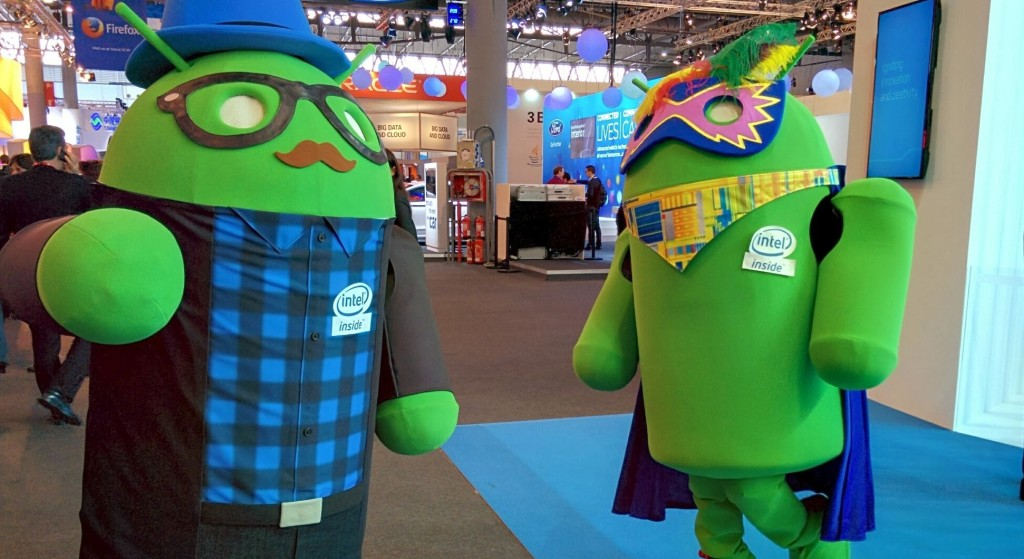 Andy the Android at MWC 2014 in Barcelona, Spain.