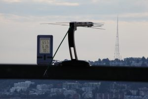 A kitchen thermometer, with LCD display being powered by RF signals from a TV tower 4 km away. Photo:  University of Washington