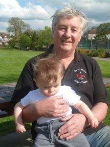 David Clark with grandson