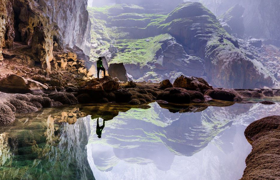 Inside Vietnam's monster Son Doong cave, the biggest cavern in the world.