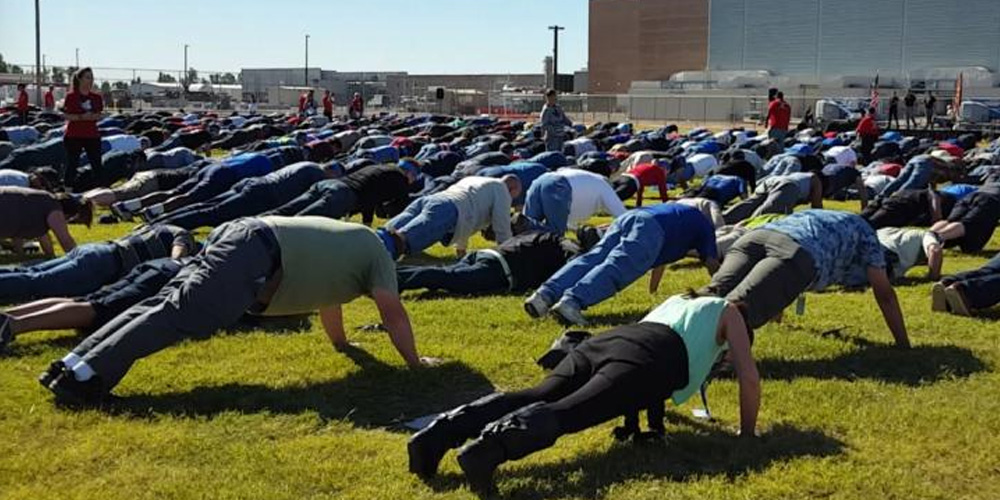 Intel Arizona helped break a world record on Veterans Day—the most people doing pushups in the same location for one minute. Just another day at the office!