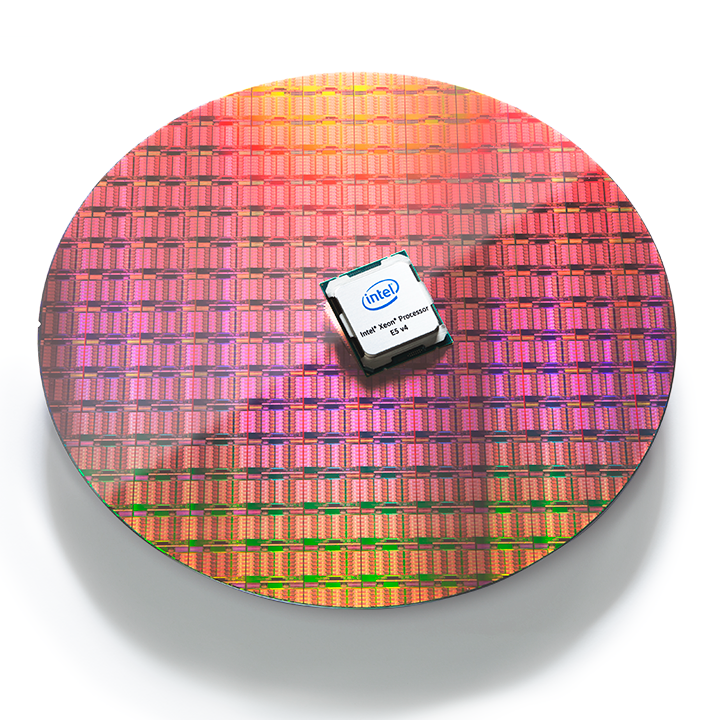 Intel® Xeon® processor E5-2600 v4 CPU and wafer