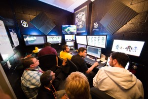 Intel's production team captures footage of MLB All-Star Week events to create a 360-degree replay. Intel's 360-degree replay technology uses multiple high-definition cameras, paired with Intel-powered servers and PCs to create a 3-D, 360-degree reconstruction of the play that can be viewed from any position and angle.