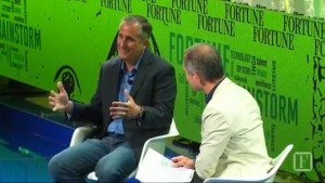 Intel CEO Brian Krzanich is interviewed Tuesday, July 12, 2016, by Fortune assistant managing editor Adam Lashinsky as part of Fortune Brainstorm Tech 2016, the publisher's annual technology and ideas summit.
