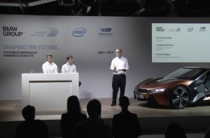 Intel CEO Brian Krzanich speaks at a news conference in Munich, Germany, to announce a partnership among BMW Group, Intel and Mobileye.