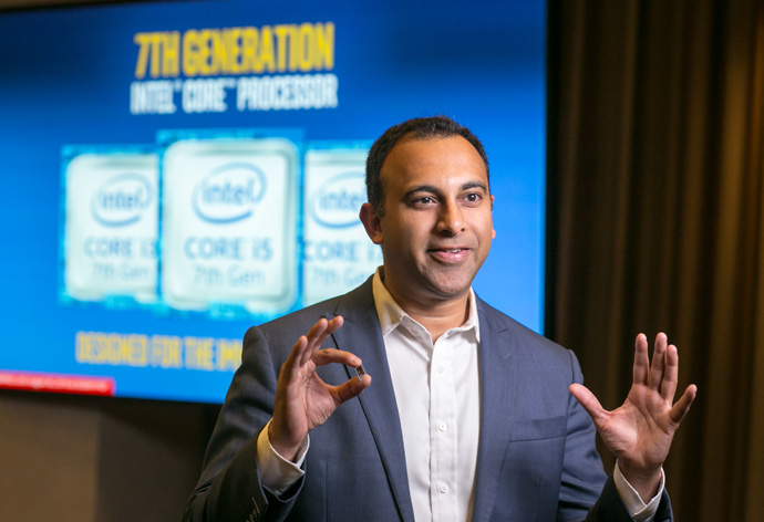 Navin Shenoy, Intel corporate vice president and general manager for its Client Computing Group, discusses the benefits of the 7th Gen Intel Core processor. 7th Gen Intel Core processors deliver richer experiences, incredible performance and responsiveness, and true ultra HD 4K entertainment in stunning new devices. (Credit: Intel Corporation)