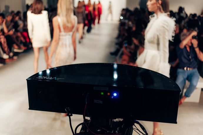 Intel's immersive runway experience at New York Fashion Week was