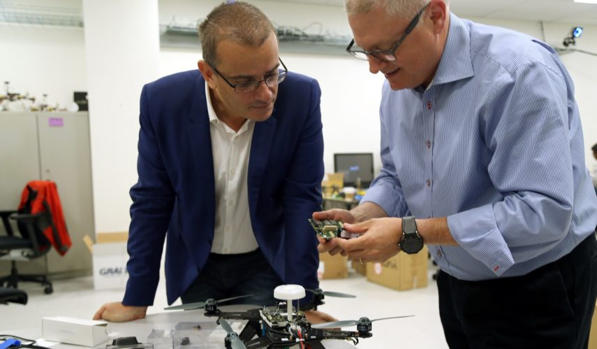 Movidius CEO Remi El-Ouazzane and Intel senior vice president Josh Walden discuss what's possible in the drone lab at Intel's Santa Clara headquarters.